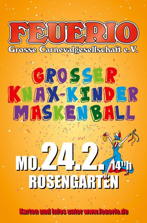 Großer KNAX-Kindermaskenball