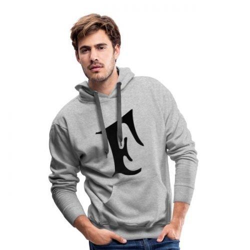 Feuerio-F Schwarz Männer Premium Hoodie